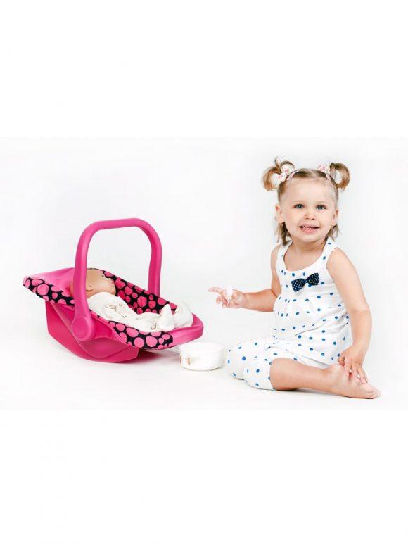 Autosedačka pre bábiky PlayTo Anetka ružová - C