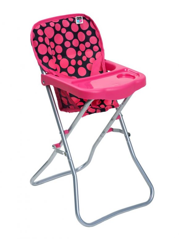 Jedálenská stolička pre bábiky PlayTo Dorotka ružová - C