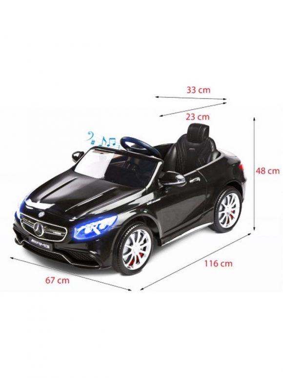 Elektrické autíčko Toyz Mercedes-Benz S63 AMG-2 motory pink - C