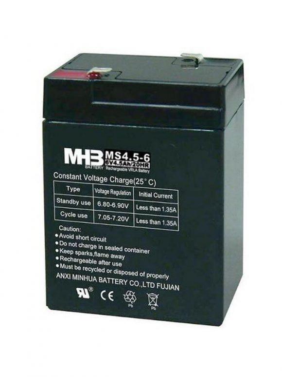 Pb akumulátor MHB VRLA AGM 6V/4,5Ah - C