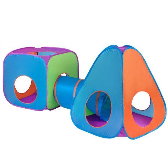 Detský stan PlayTo 3v1 oranžovo-modrý - C