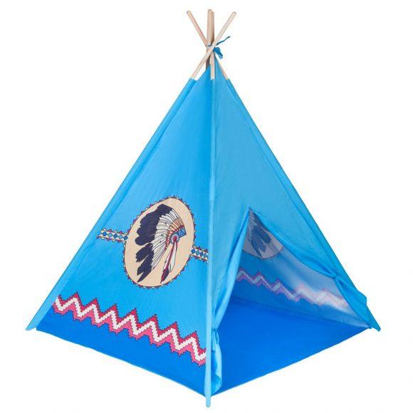 Detský indiánsky stan teepee PlayTo modrý - C