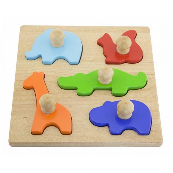 Detské vkladacie puzzle pečiatky Viga Zvierata - C