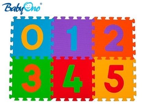 BabyOno Penové puzzle - Čísla - 6ks