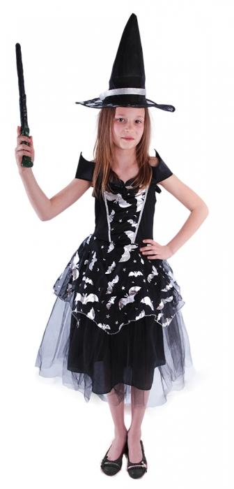 Rappa Detský kostým čarodejnice Netopýrky (S), Čarodejnica / Halloween