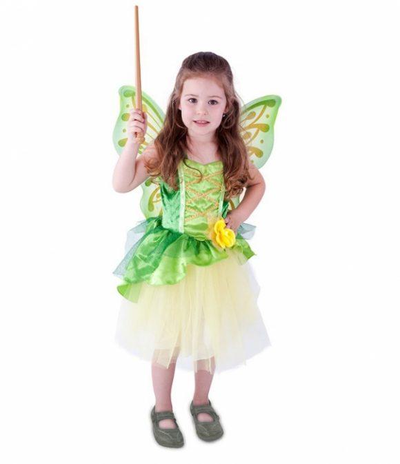 Víla s krídlami - zelená