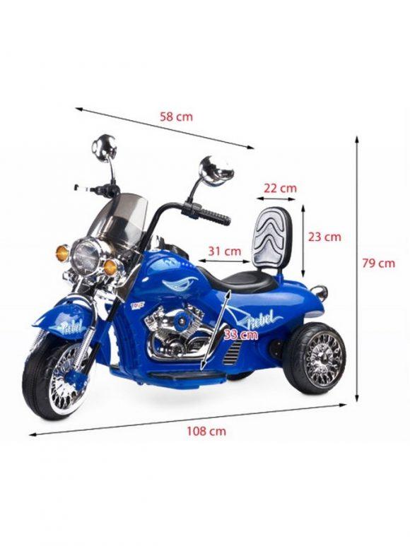 Elektrická motorka Toyz Rebel black - C